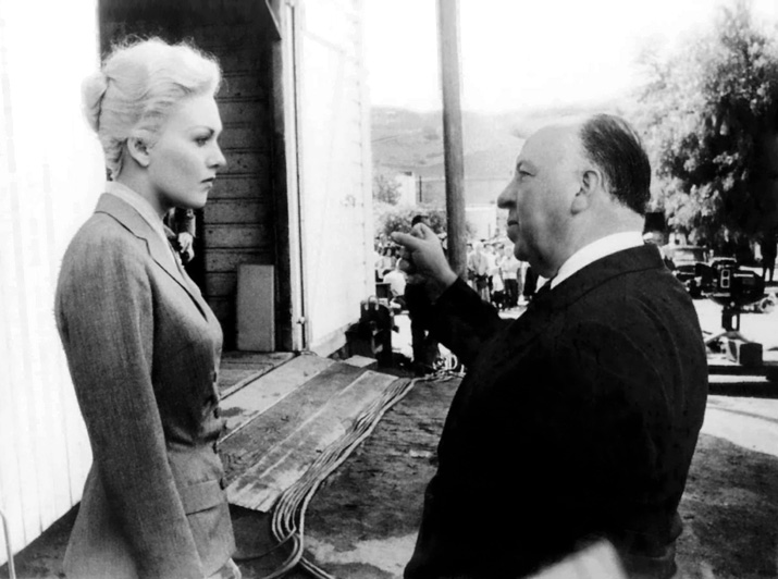 Kim Novak with Alfred Hitchcock