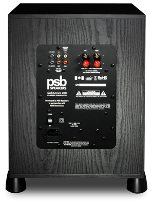 PSB SubSeries 200 rear panel